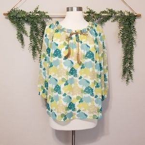 MM Couture Floral Blouse Size Small